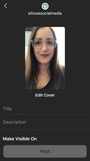 Give your IGTV video a title and description