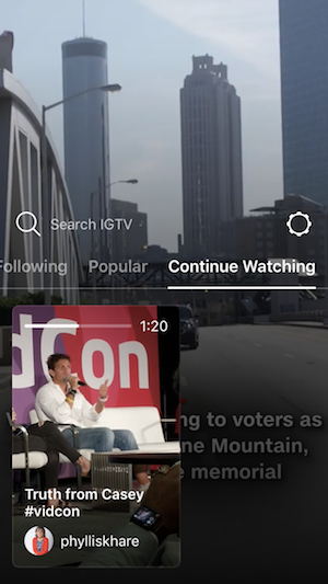 IGTV Continue Watching