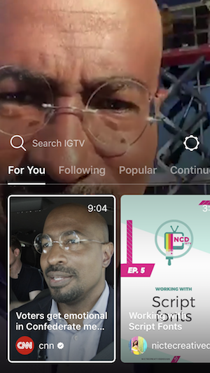 IGTV For You video recommendations