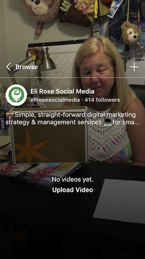 Upload video to IGTV channel