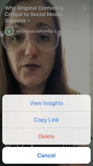 View IGTV video Insights