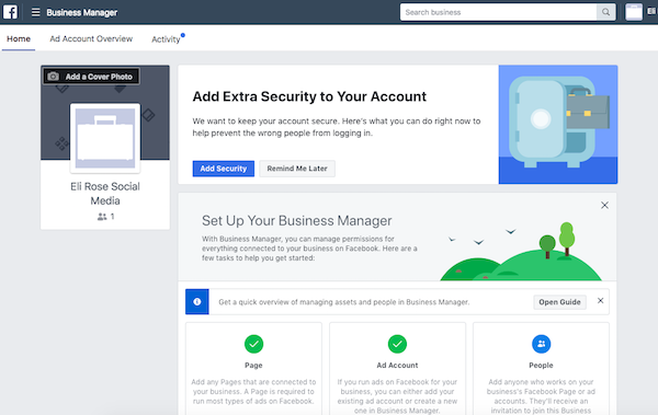 Add Extra Security to Business Manager
