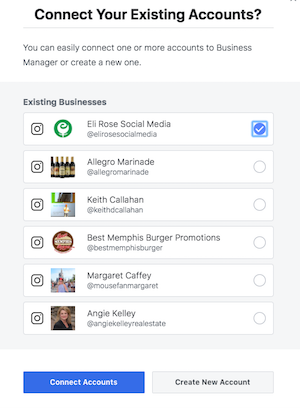 Connect existing Facebook Business Page to Business Manager