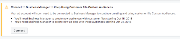 Facebook Business Manager Requirement for customer file audiences