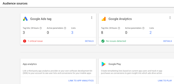 Google AdWords tag code for your website