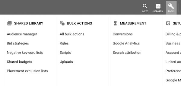 Google Audience Manager tab
