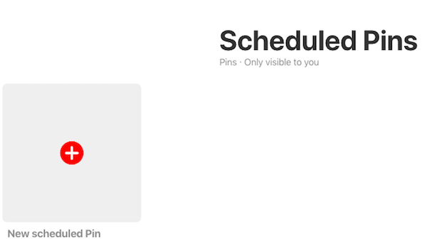 Schedule new pin on Pinterest