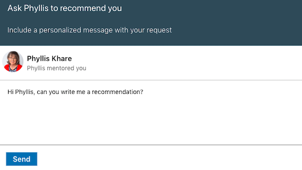 LinkedIn Recommendation Note
