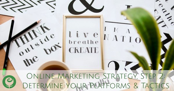 Online Marketing Strategy, Step 2: Choose your Platforms & Tactics