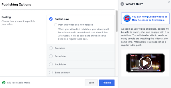 How to Setup a Facebook Premiere Video on your Business Page