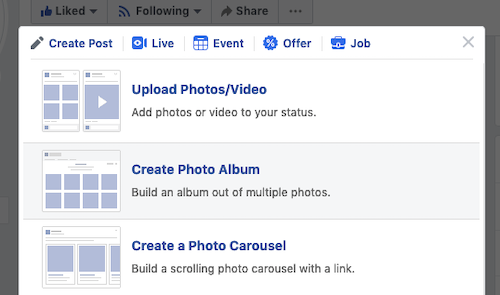 Upload a video for Facebook premiere