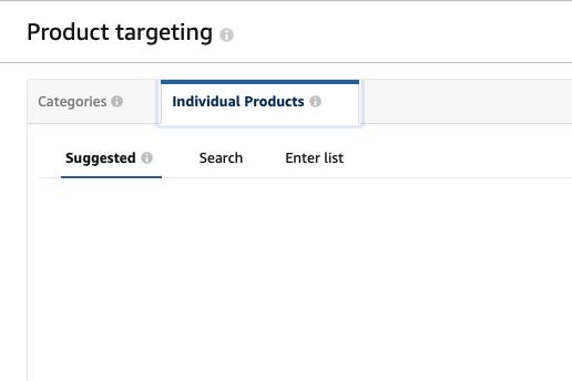 Amazon ad product targeting