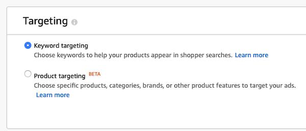 Amazon ad targeting options