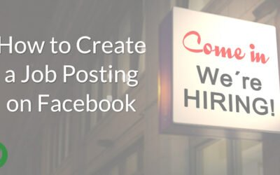How to Create a Job Posting on Facebook