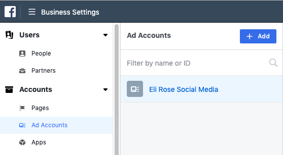 Add Ads Accounts to Business Manager