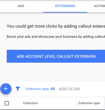 Add a Google Ad Extension