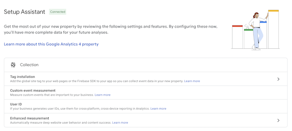 Configure your new Google Analytics 4 property